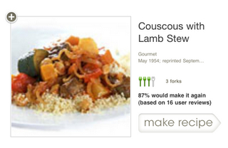First Search Result (horizontal)—Epicurious app for iPhone