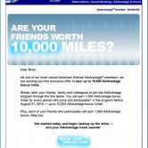 American Airlines Member Referral Email