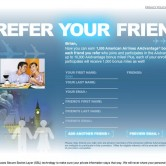 American Airlines Advantage Member Referral Landing Page