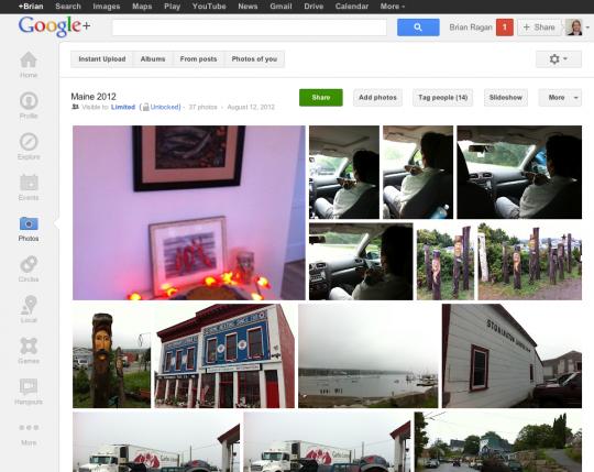 Google Plus Album