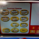 Wawa Deli Kiosk 4 - Sandwich Menu